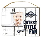 "KH Sports Fan 10""x8"" Milwaukee Brewers Clip It Weathered Baby Logo Photo Frame"
