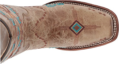 Cowboy Toe On inch Embroidery Distressed Southwest Bone Circle Bone Boot G Square Corral Pull Women's 12 WS0POBwwTz