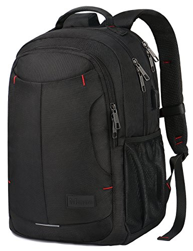 Travel Outdoor Computer Backpack Laptop Bag (Black) - 1