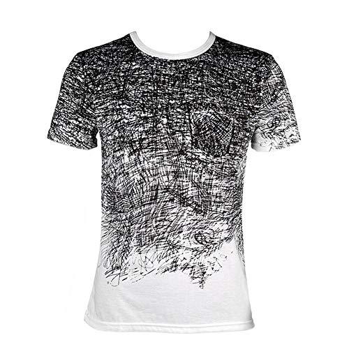 nattiness Fashion Mens Tee Shirt Slim Fit Short Sleeve O-Neck Vintage Print Muscle T-Shirt Casual Sports Tops T-Shirt Shirt Short Sleeve Casual ()
