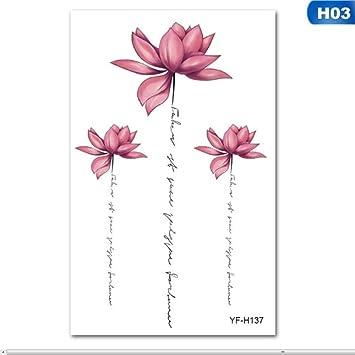 3D plantas flores extraíbles impermeables tatuajes temporales DIY ...