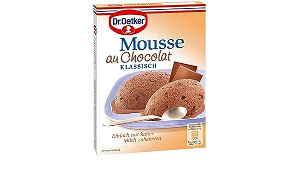 Dr. Oetker Mousse AU Chocolat (Pack de 8, 8 x 92 g Paquete): Amazon.es: Alimentación y bebidas