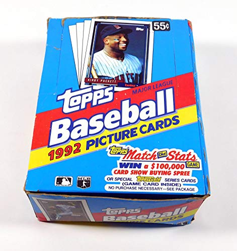 1992 Topps Baseball Wax Box (36 Packs) Possible Manny Ramirez RC