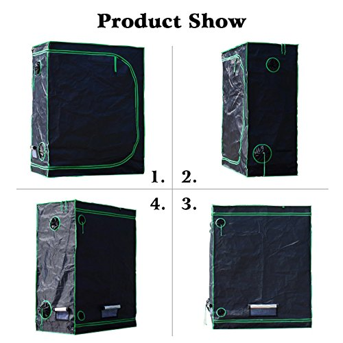 """51Hs50PFKhL - Quictent SGS Approved Eco-friendly 48""""x24""""x60"""" Reflective Mylar Hydroponic Grow Tent with Heavy Duty Anti-burst Zipper and waterproof Floor Tray for Indoor Plant Growing 4'x2'"""