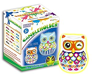 Arts and Crafts - DIY Owl Candle Holder Painting