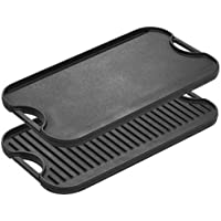 Lodge LPGI3 Cast Iron Reversible Grill/Griddle, 20-inch x 10.44-inch, Black