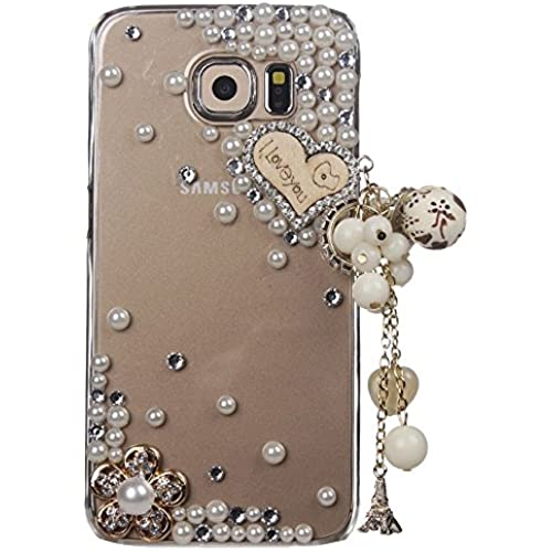 Samsung Galaxy S7 Active Case, STENES [Luxurious Series] 3D Handmade Shiny Crystal Bling Case with Retro Bowknot Anti Dust Plug - Heart Eiffel Tower Pendant Sales