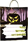 Halloween Trick or Treat Safety Bundle with Black & Orange Pumpkin Reflector Bag and Bright LED Flashlight (Bundle 2)