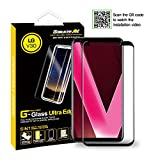 GOBUKEE ULTRA EDGE FULL ADHESIVE tempered glass screen protector compatible with LG V30 and LG V35 with FREE anti-shock BACK PROTECTOR, made in KOREA