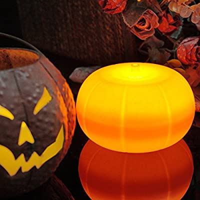 WIFUME LED Pumpkin Lights with Remote and Timer, Lantern Light, Halloween Light, Flameless Candles for Decoration,Pumpkins, Battery Operated Candles Set
