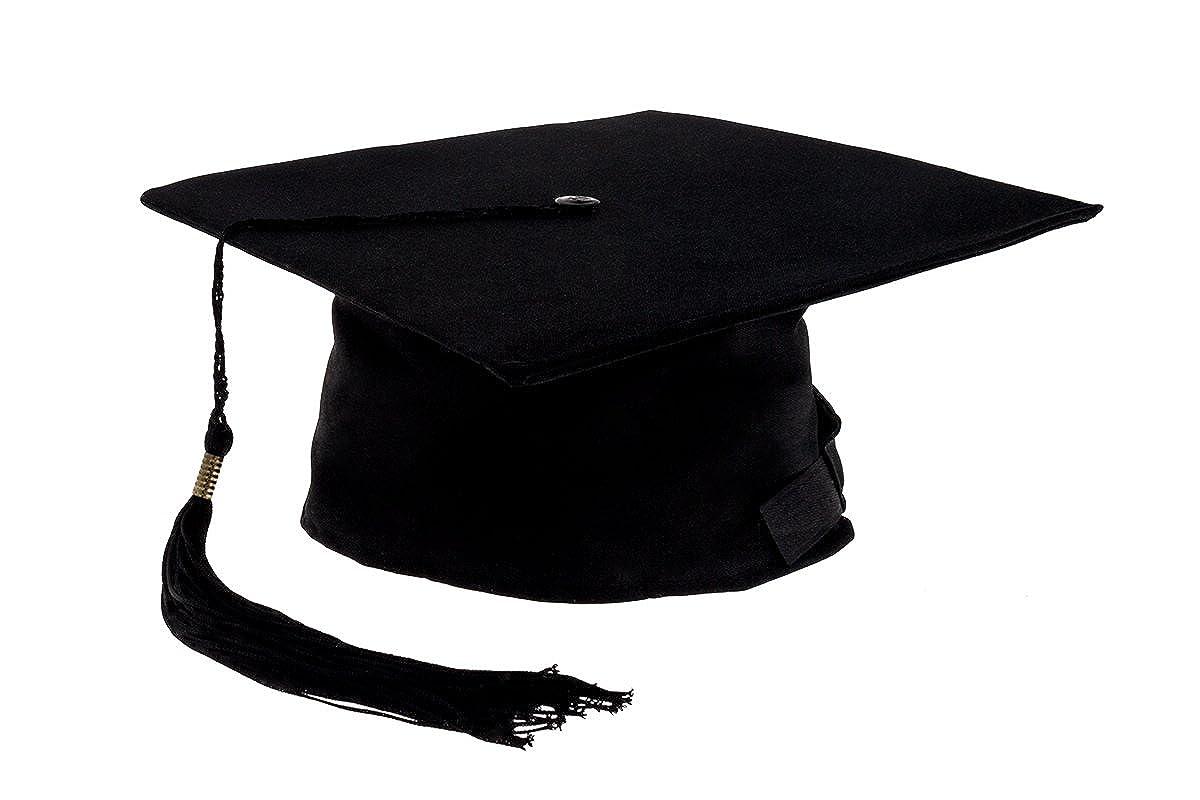 Smartfox – birrete BACHMANN elor Master College Uni absolvent estudiantes  Diploma sombrero Graduación en negro – 0cc99c47221