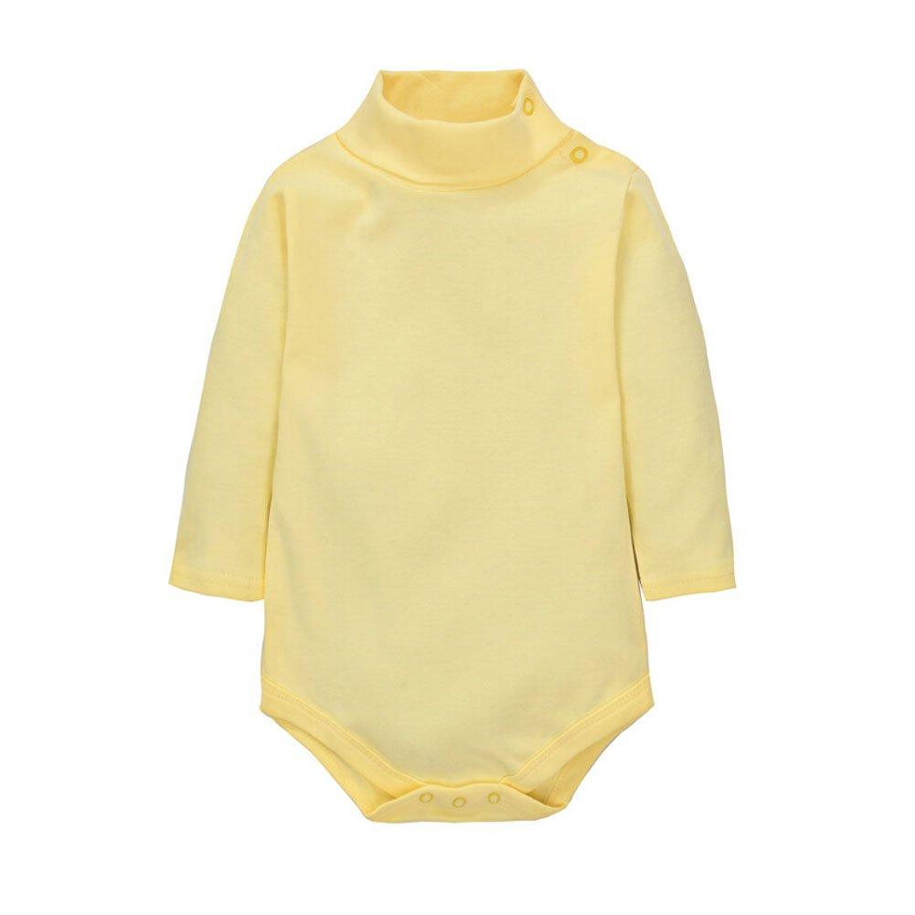 CuteOn 2 Packs Unisex Baby Romper Polo Neck Long Sleeve 100/% Cotton Red 18 Months Infant Bodysuit Jumpsuit Gray