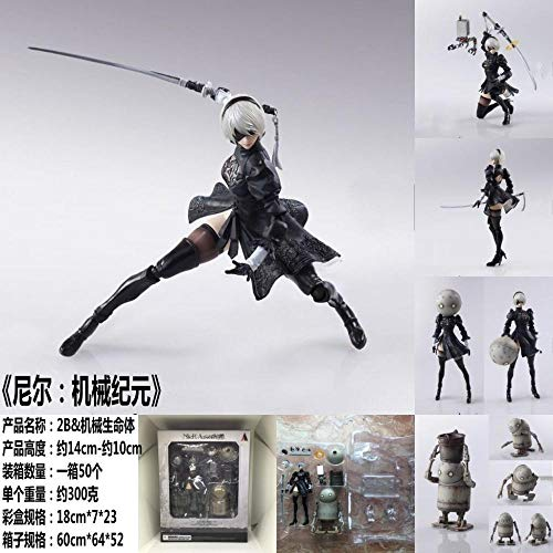 NieR Automata Yorha No. 2 Type B 2B Fighting Action Figure PVC Toys Collection Doll Anime Cartoon Model Without Retail Box - Code A2137