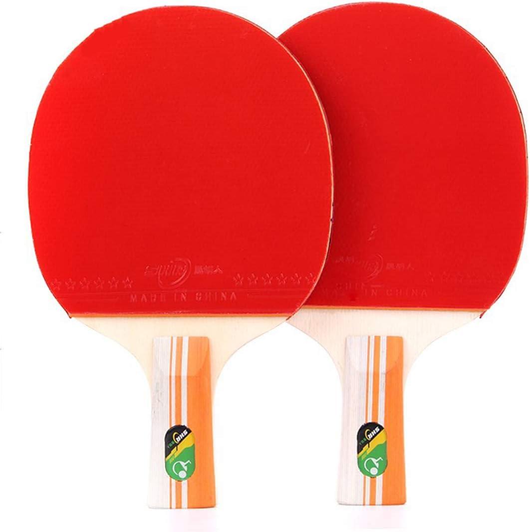 RUIXFTA Portátil Pala De Ping Pong para, El Colegio, En Exteriores O De Viaje 2 Raqueta Y 3 Pelotas De Tenis De Mesa Juego Velocidad Entrenadores Regalo, Red