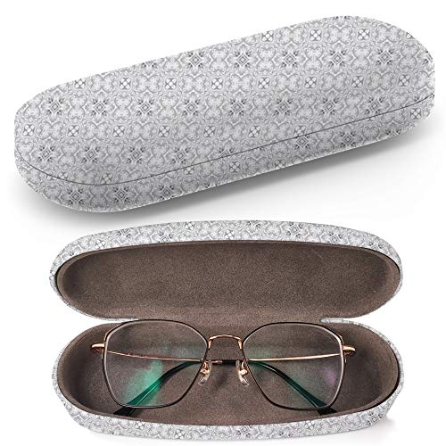 Hard Shell Glasses Protective Case with Cleaning Cloth for Eyeglasses and Sunglasses - Artistic Black ()
