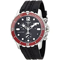 Tissot Men's T0664171705701 Seastar Analog Display Swiss Quartz Black Watch