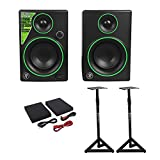 (2) Mackie CR3 3'' Creative Reference Multimedia Monitors Speakers+Monitor Stands