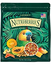 LAFEBER'S Tropical Fruit Nutri-Berries Pet Bird Food, Made with Non-GMO and Human-Grade Ingredients, for Parrots, 3 lb