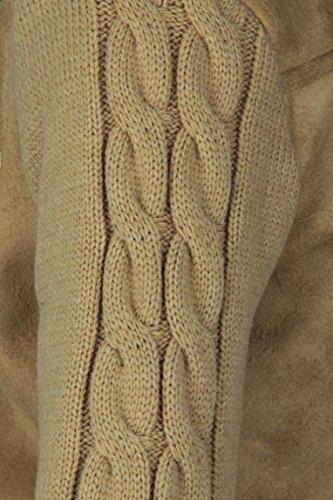 USHA - Abrigo corto 17136274 - Mujer naturaleza