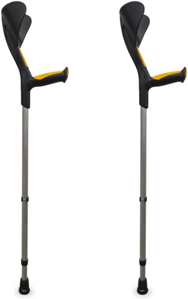 Muletas Advance 2 uds, Color naranja, Con puño anatómico de goma