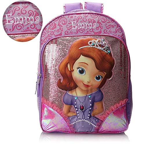 Personalized Disney Sofia the First 16 Inch Backpack with Super Lights -
