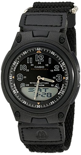 Casio Men's AW80V-1BV World Time Ana-Digi Data Bank 10-Year-Battery Watch