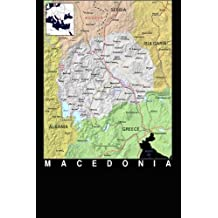 Modern Day Color Map of Macedonia Journal: Take Notes, Write Down Memories in this 150 Page Lined Journal
