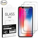 {2-pack}CENOLEI iphoneX,the high definition toughened glass screen protection film,using 0.2mmthickness Ultra Hard and High Definition Screen Protector
