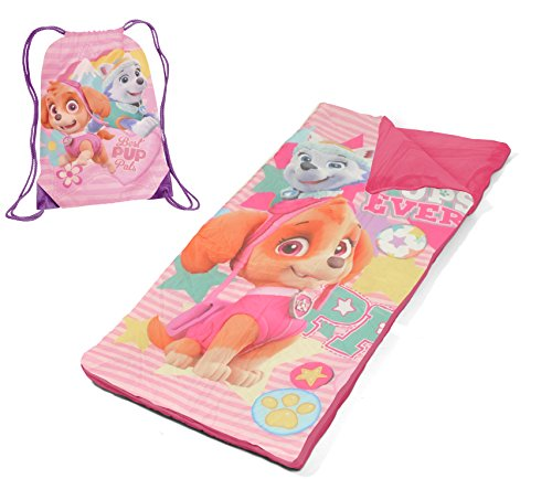 Skye Bag (Nickelodeon Paw Patrol Skye and Everest Drawstring Carry Bag with Nap Mat, Pink)