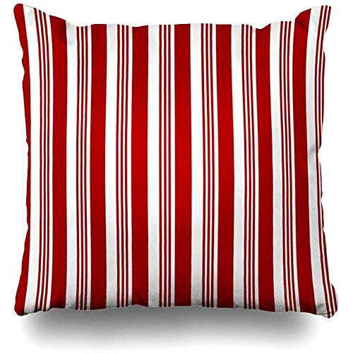 Throw Pillow Cover Abstract Red White Striped Candy Cane Holidays Christmas Craft Kids Mint Santa Cushion Case Home Decor Square Size 18 x 18 Inches Design Pillowcase