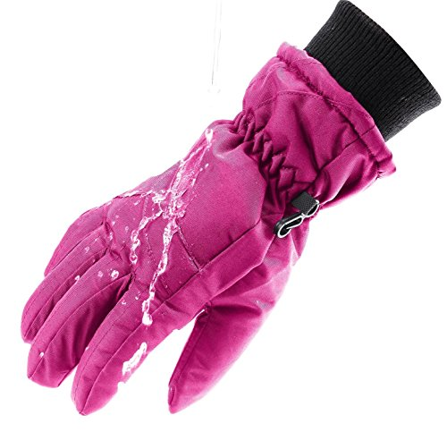 - Wantdo Women's Windproof Thinsulate Warm Ski Gloves Insulated Winter Climbing Gloves(Fushia, Small)