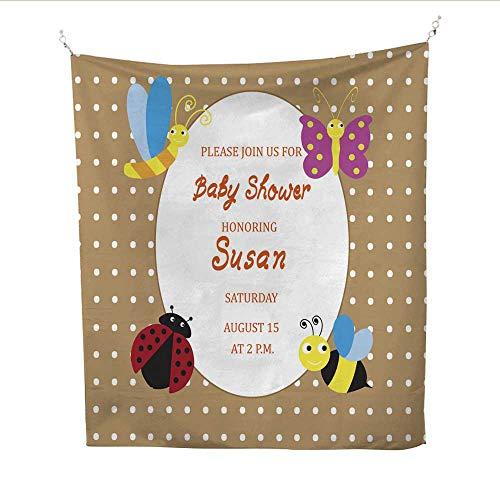 25 Home Decor Hippy Tapestries Baby Shower Card Invitation with Bugs Urban Outfitters Tapestries 57W x 74L INCH ()