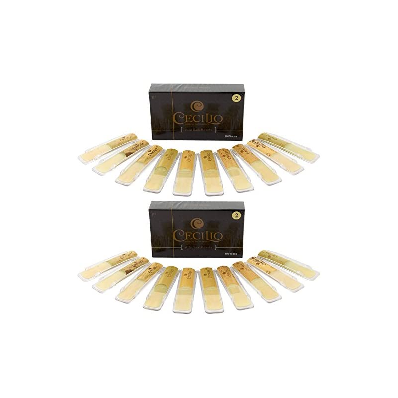 Cecilio Alto Saxophone Reeds, TWO 10-pac