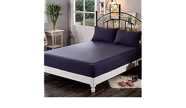 SUYUN - Funda de colchón antialérgica con Cremallera, Impermeable y Transpirable, Protector de colchón, Color Azul y Negro, 180 * 200 * 23cm
