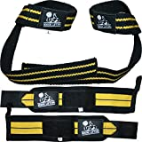 Wrist Wraps + Lifting Straps Bundle (2 Pairs) for Weightlifting, Cross Training, Workout, Gym, Powerlifting, Bodybuilding - Support for Men/Women, Avoid Injury During Weight Lifting - 1 Year Warranty