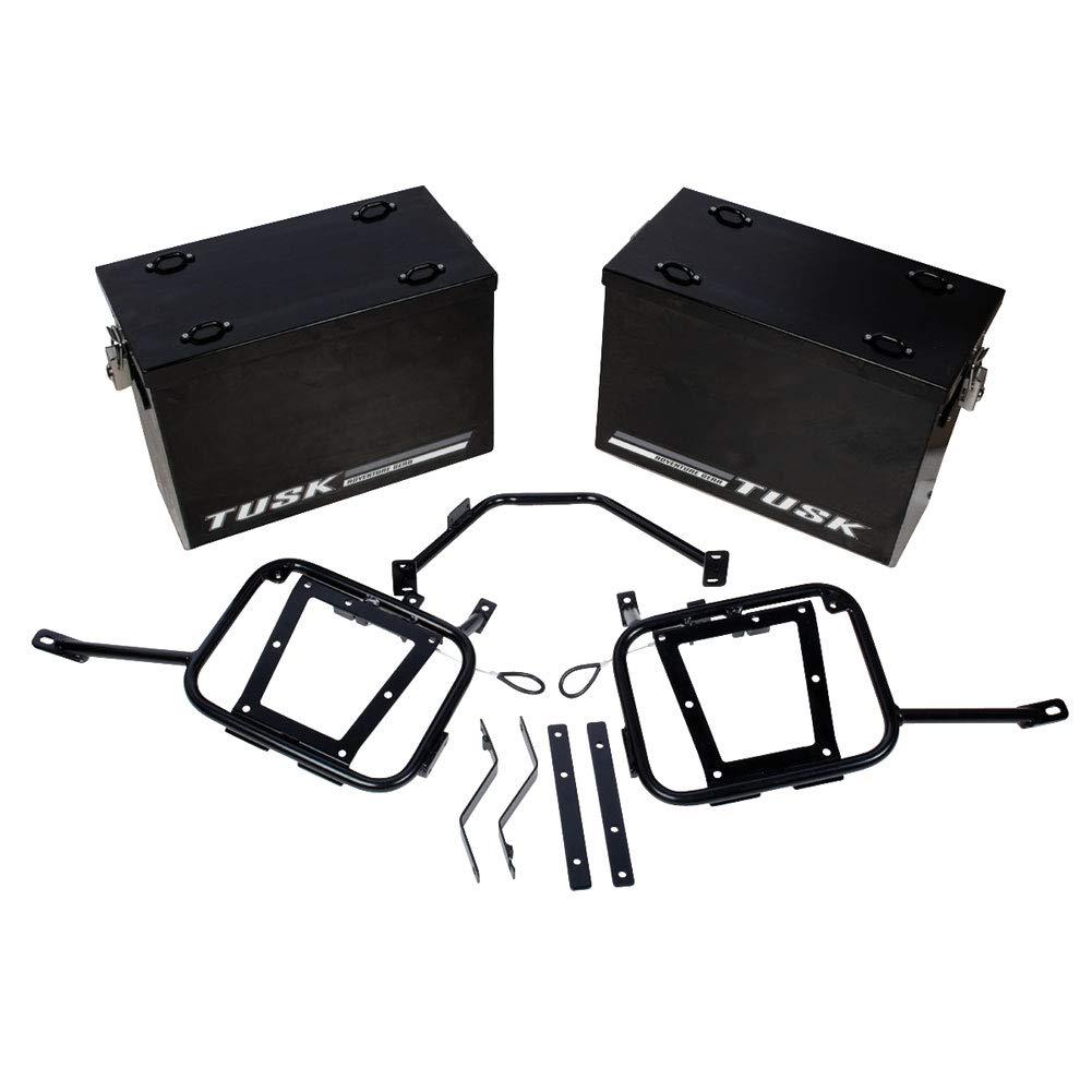 Tusk Aluminum Panniers Pannier Racks Large Black KLR650 2008-2015