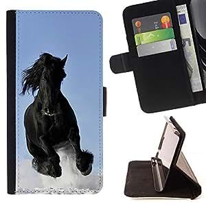 Momo Phone Case / Flip Funda de Cuero Case Cover - Majestic Mustang Horse - HTC One A9