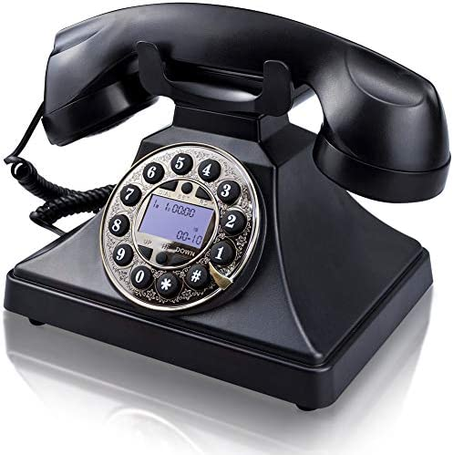 Retro landline Color : Black Retro Telephone Wall-mounted Landline Corded Phones Bathroom Phone Family Hotel Telephone Curly Cord And Traditional Bell Ring Tone Ringing Indicator Waterproof