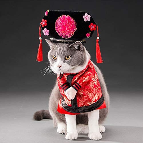 Bluelans Christmas Decorations, Halloween Pet Dog Cat Chinese Emperor Princess Outfit Cosplay Costume Clothes Xmas Gifts Xmas Stocking -