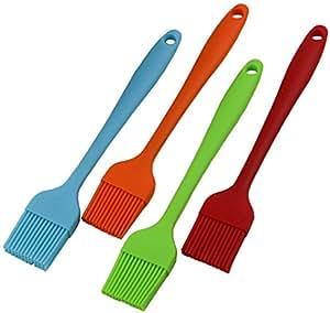 hzcodelo 4pcs para repostería de silicona hilván Grill barbacoa cepillos, cepillos para barbacoa, 8.1pulgadas,
