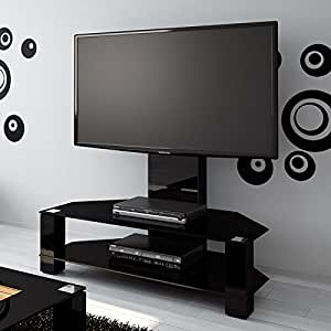 lugano tv stand with tv bracket for up to 52 inch tvs maximum screen weight 40 kg. Black Bedroom Furniture Sets. Home Design Ideas