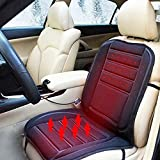 heated back seat covers for cars - Enshey 12V Warm Cushion Heated Car Seat Cover Heating Warmer Pad with Intelligent Temperature Controller for Winter Driving