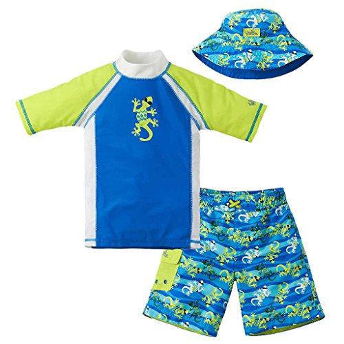 UV Skinz Boys Gecko 3 Piece Swim Set Royal/Lime Size 4T