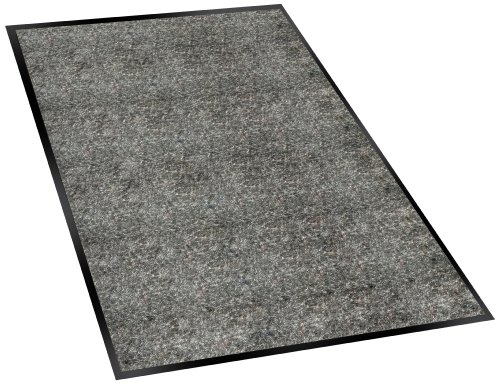 Series Walk Off Indoor Mat - Guardian Silver Series Indoor Walk-Off Floor Mat, Vinyl/Polypropylene, 2'x3', Charcoal