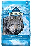 Blue Buffalo Wilderness High Protein Grain Free, Natural Adult Dry Dog Food Denali Dinner  With Wild Salmon, Venison & Halibut 22Lbs For Sale