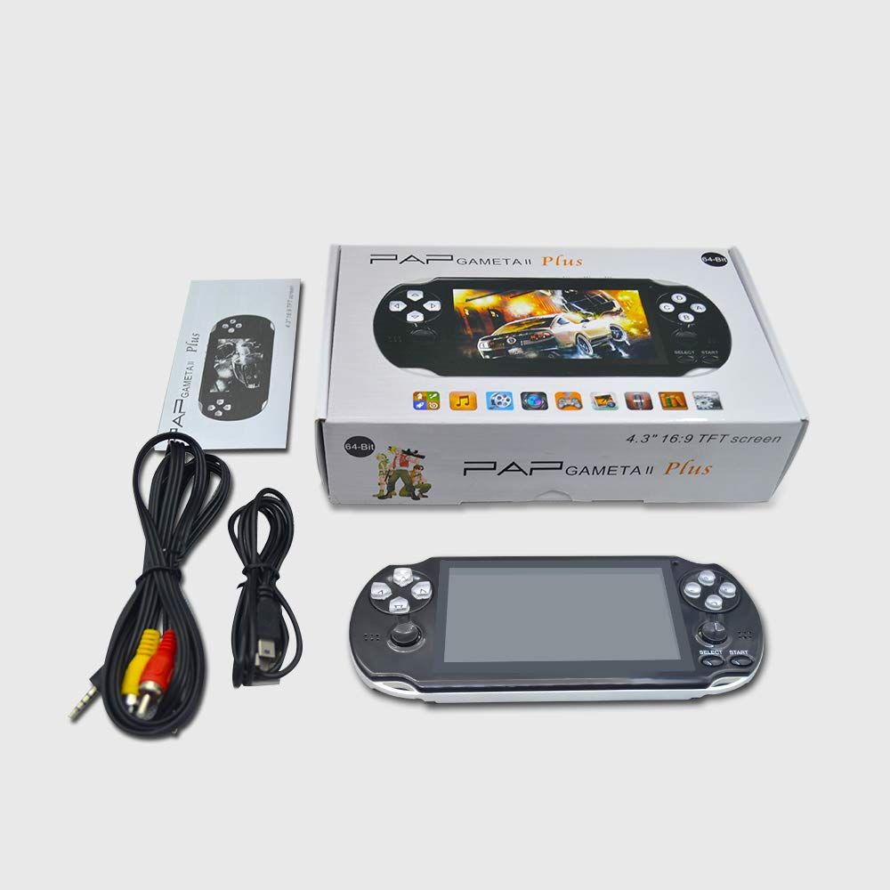 BAORUITENG Handheld Game Console , Retro Game Console with 3000 Classic Games 4.3'' 64 Bit Portable Game Console Support / Camera GBA / GBC / SEGA / NES / SFC / NEOGEO and Loss-Less Music (White) by BAORUITENG (Image #6)