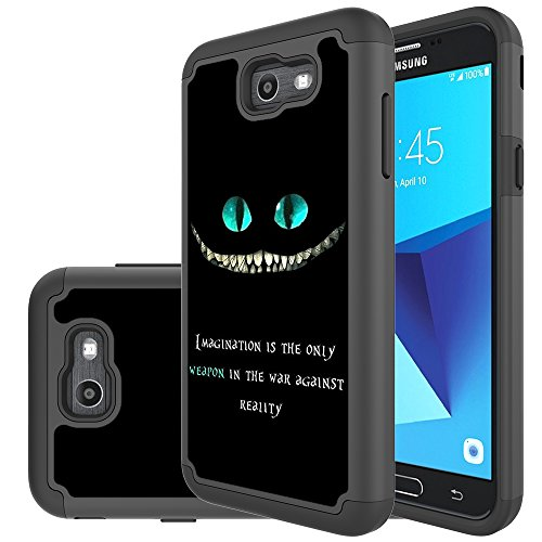 Samsung Galaxy J7 Perx Case,Galaxy J7 2017,Galaxy J7 V 2017 Case,Yiakeng Shockproof Protection Tough Rugged Dual Layer Armor Case Cover for Samsung Galaxy J7 Sky Pro / J7V (magination Weapon)