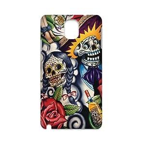Custom Day of the Dead Sugar Skull Pattern Plastic Hard Case for Samsung Galaxy Note 33d Case