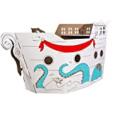 Box Creations Corrugated Pirate Ship  - Markers Included