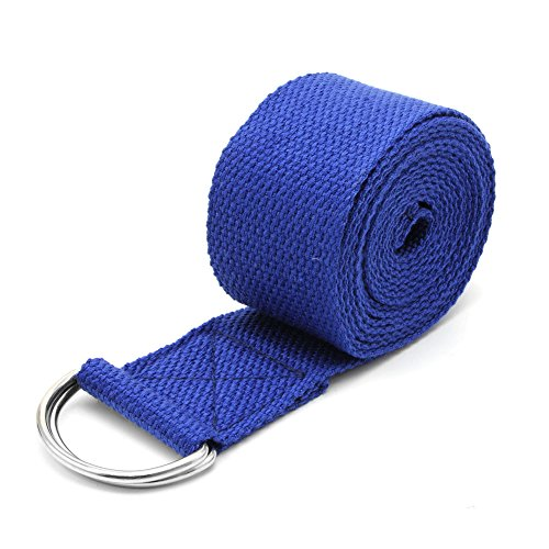 Redriver Yoga Stretch Strap Belt Gym Waist Leg Training Fitness 183cm Adjustable (Blue)